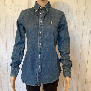 NWTS Ralph Lauren Jean Shirt